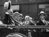 Governor Franklin Roosevelt Campaigning for President in Columbus  Ohio