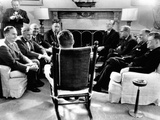 President Kennedy Meets on May 9  1961 with Leaders of the News Media