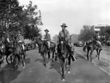 Gas Masked Cavalry on Pennsylvania Avenue Reinforce Washington DC Police