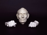 Life Mask and Plaster Hands of Abraham Lincoln