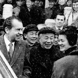 Pres Nixon  Enjoys a Laugh with His Chinese Guides Outside the Forbidden City  Beijing  Feb 25 1972