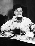 Chicago Worker Enjoys a Saloon Lunch That Provided Free Food to Go with the Purchased Beer  ca 1920