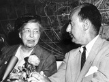 Eleanor Roosevelt Supported Adlai Stevenson for Second Democratic Presidential Nomination in 1956