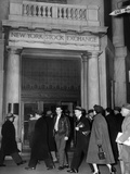 Entrance of the New York Stock Exchange  Jan 21  1955