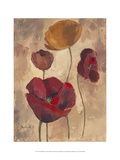 Textured Poppies I