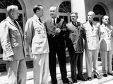 President Lyndon Johnson with the Joint Chiefs of Staff at the White House