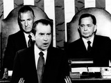 Addressing Congress  Pres Richard Nixon Announces a 90-Day Wage-Rent Freeze Would Not Be Extended
