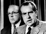 President Richard Nixon with George Shultz  Director of the Office of Management and Budget