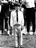 Eight-Year-Old John F Kennedy Jr at Dedication of Robert F Kennedy Stadium  Jun 10  1969