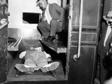 John Dillinger  Dead in Police Patrol Wagon  Taken from Scene by FBI Agents  Chicago  Jul 22  1934