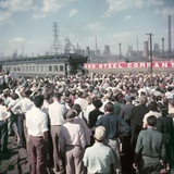 Pres Candidate Dwight Eisenhower Speaking to Crowd at a Whistle-Stop Event  Sept 16  1952