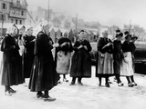 Wearing Unique Costumes of Brittany  France  Wives Wait Return of Fishermen Husbands  Oct 1926