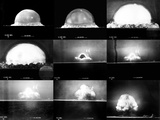 Photographic Sequence of the Trinity Test  the First Manmade Nuclear Explosion
