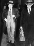 New York Organized Crime Boss  Frank Costello (Left)  with His Lawyer  George Wolf