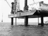 Oil Platform Operating in the Gulf of Mexico West of Punta Gorda  Florida  Jan 9  1968