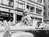 General Dwight Eisenhower Waves to Cheering New York Crowds  June 19  1945