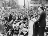 1956 Democratic Presidential Nominee Adlai Stevenson  Speaking to a Crowd at Paterson  New Jersey
