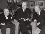 Prime Minister Winston Churchill  Financier Bernard Baruch  and Pres-Elect Dwight Eisenhower