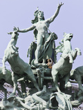 The Quadriga Sculpture at the Grand Palais  Paris  France