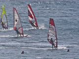Windsurfers  Hookipa Beach Park  Maui  Hawaii  USA