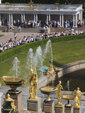 Grand Cascade Fountains  Peterhof  Saint Petersburg  Russia