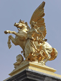 Pegasus Statue at the Pont Alexander Iii Bridge  Paris  France
