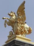 Pegasus Statue at the Pont Alexander Iii Bridge  Paris  France
