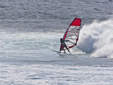 Windsurfer  Hookipa Beach Park  Maui  Hawaii  USA