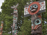 Totem Poles  Stanley Park  Vancouver  British Columbia  Canada