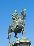 King John Statue in Theatre Square at the Semperoper (Opera House)  Dresden  Germany