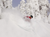 David Downing Skis Powder at Whitefish Mountain Resort in Whitefish  Montana  USA