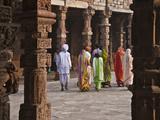 Indian People at Qutb Minar (UNESCO World Heritage Site)  Delhi  India