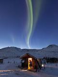Caribou Bluff Cabin  White Mountain National Recreation Area  Alaska  USA