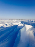 Wind Carved Snow on the Tundra  Wapusk National Park  Manitoba  Canada