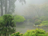 Portland Japanese Garden Fogged In: Portland  Oregon United States of America  USA