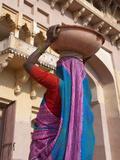 Woman in Amber Palace  Jaipur  Rajasthan  India