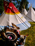 Nez Perce Indian Encampment in Town of Joseph  Wallowa County  Northeastern Oregon  USA