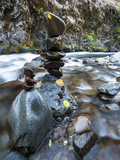 Stacked Rock Formations in the South Fork of the Walla Walla River  Milton-Freewater  Oregon  USA