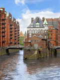 Waterfront Warehouses and Lofts in the Speicherstadt Warehouse District of Hamburg  Germany
