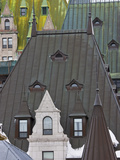 Architectural Details of Chateau Frontenac Hotel  Quebec City  Canada