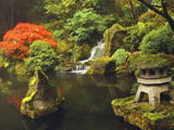 Portland Japanese Garden in Autumn  Portland  Oregon  USA