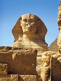 The Sphinx and Chefren Pyramid  Giza  Cairo  Egypt