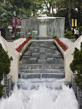 Waterfall in Hong Kong Park  Hong Kong  China