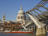 Millennium Bridge  St Pauls Cathedral  London  England
