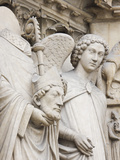 Exterior Statue Detail  Notre Dame Cathedral  Paris  France