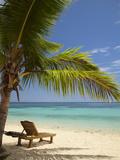 Beach and Lounger  Plantation Island Resort  Malolo Lailai Island  Mamanuca Islands  Fiji