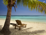 Beach and Lounger  Plantation Island Resort  Malolo Lailai Island  Mamanuca Islands  Fiji