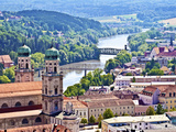 Aerial View of Passau  Germany