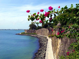 Waterfront Walkway  Fort San Felipe Del Morro  San Juan  Puerto Rico  USA  Caribbean