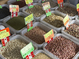 Dried Legumes for Sale at a Market in Chinatown  Vancouver  British Columbia  Canada